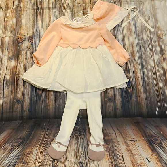 ruffle boutique style shabby chic outfit Paisley baby girls outfit